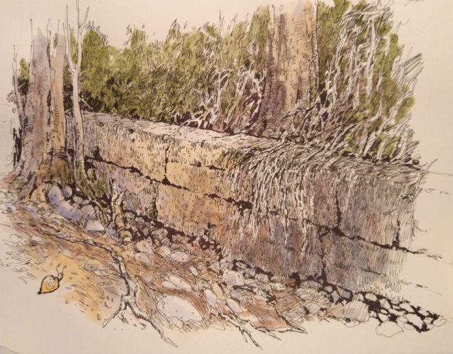 stone wall at900